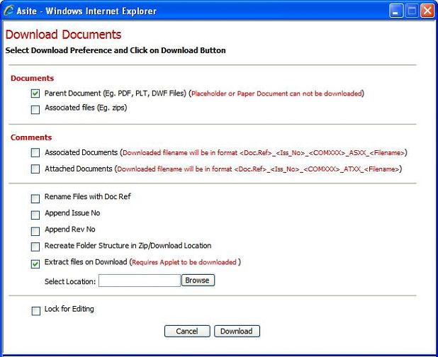 Batch Download Documents and Drawings